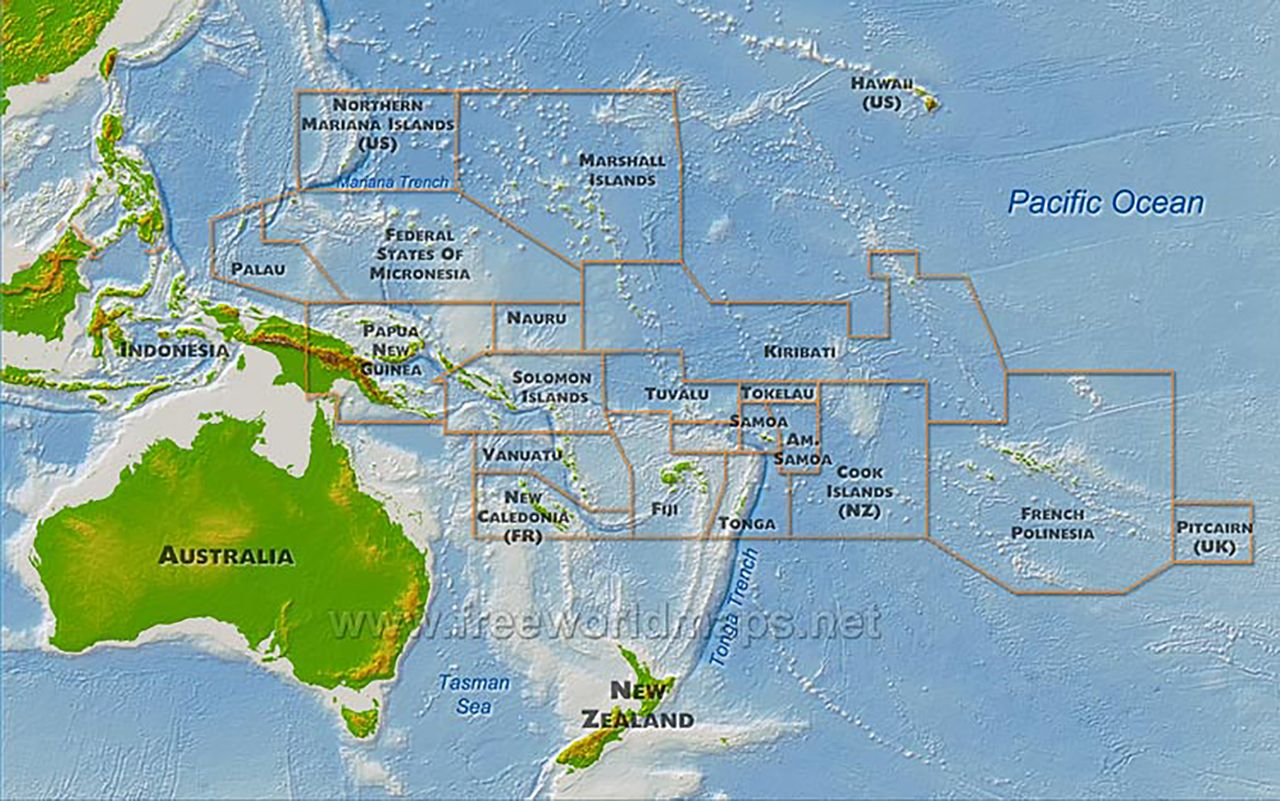 Millennium Development Goals Progress In Oceania Archives Of - Map of oceania