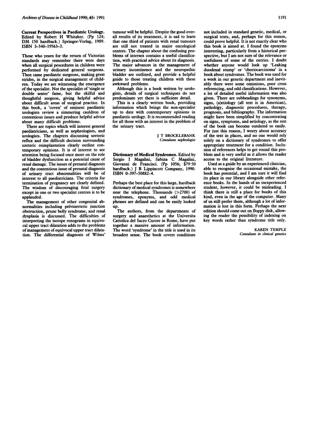 Current Perspectives in Paediatric Urology | Archives of