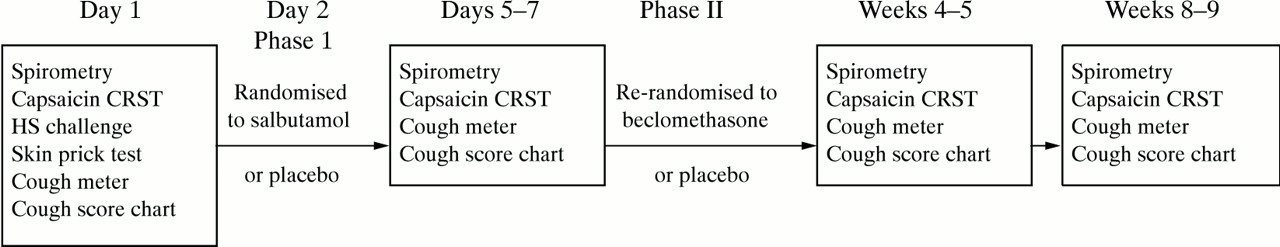 A randomised, placebo controlled trial of inhaled salbutamol