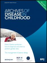 Archives of Disease in Childhood: 100 (1)
