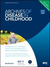 Archives of Disease in Childhood: 100 (10)