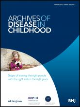 Archives of Disease in Childhood: 100 (2)