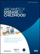 Archives of Disease in Childhood: 100 (3)