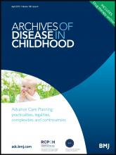 Archives of Disease in Childhood: 100 (4)