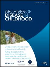 Archives of Disease in Childhood: 100 (5)