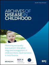 Archives of Disease in Childhood: 100 (6)