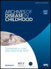 Archives of Disease in Childhood: 100 (8)
