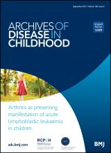 Archives of Disease in Childhood: 100 (9)