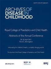 Archives of Disease in Childhood: 100 (Suppl 3)