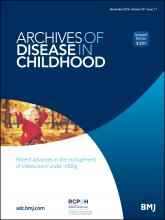 Archives of Disease in Childhood: 101 (11)