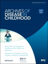 Archives of Disease in Childhood: 101 (12)