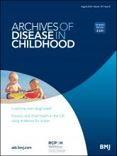 Archives of Disease in Childhood: 101 (8)