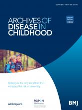 Archives of Disease in Childhood: 102 (10)