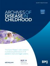 Archives of Disease in Childhood: 102 (6)