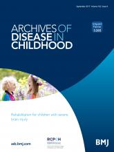 Archives of Disease in Childhood: 102 (9)