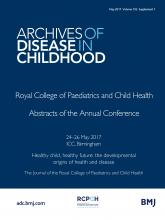 Archives of Disease in Childhood: 102 (Suppl 1)
