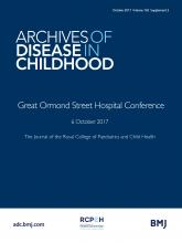Archives of Disease in Childhood: 102 (Suppl 3)
