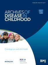 Archives of Disease in Childhood: 103 (10)