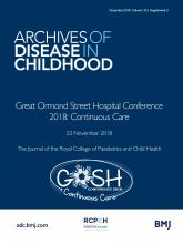 Archives of Disease in Childhood: 103 (Suppl 2)