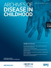 Archives of Disease in Childhood: 104 (10)