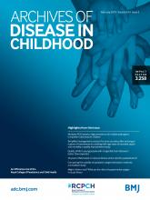 Archives of Disease in Childhood: 104 (2)
