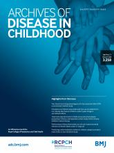 Archives of Disease in Childhood: 104 (6)