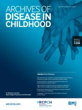 Archives of Disease in Childhood: 104 (7)