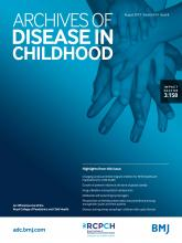 Archives of Disease in Childhood: 104 (8)