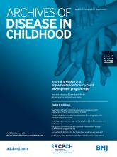 Archives of Disease in Childhood: 104 (Suppl 1)