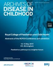 Archives of Disease in Childhood: 104 (Suppl 2)