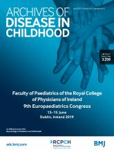 Archives of Disease in Childhood: 104 (Suppl 3)