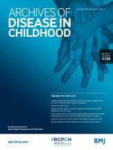 Archives of Disease in Childhood: 105 (1)