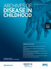 Archives of Disease in Childhood: 105 (11)