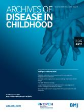 Archives of Disease in Childhood: 105 (12)