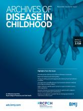 Archives of Disease in Childhood: 105 (3)