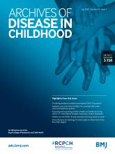 Archives of Disease in Childhood: 105 (7)