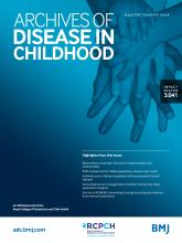 Archives of Disease in Childhood: 105 (8)