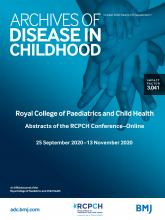Archives of Disease in Childhood: 105 (Suppl 1)