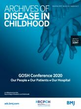 Archives of Disease in Childhood: 105 (Suppl 2)
