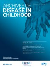 Archives of Disease in Childhood: 106 (10)