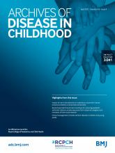 Archives of Disease in Childhood: 106 (4)