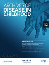 Archives of Disease in Childhood: 106 (5)