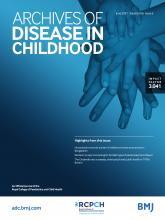 Archives of Disease in Childhood: 106 (6)