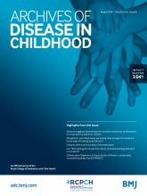 Archives of Disease in Childhood: 106 (8)