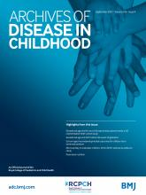 Archives of Disease in Childhood: 106 (9)