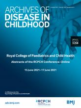 Archives of Disease in Childhood: 106 (Suppl 1)