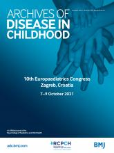 Archives of Disease in Childhood: 106 (Suppl 2)