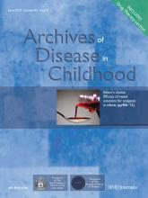 Archives of Disease in Childhood: 95 (6)