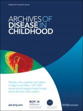 Archives of Disease in Childhood: 97 (10)