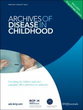 Archives of Disease in Childhood: 97 (3)